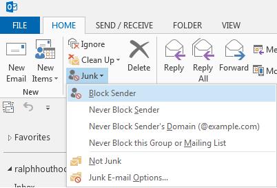 Markeren als ongewenste email