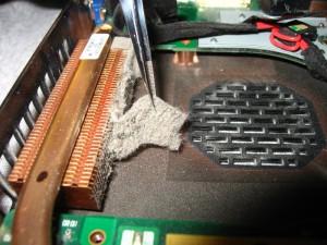 Stoffige laptopfan
